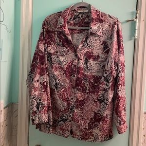 Women's long sleeve blouse size 2X by studio works